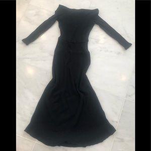 Free People Beach cotton and Spandex black dress.